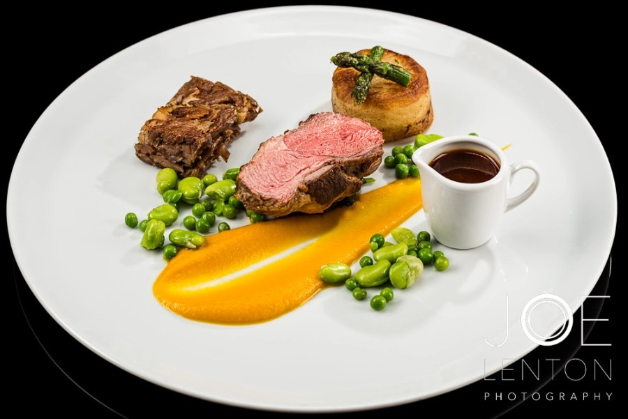 Food Photo Story - Duo of Lamb - plated with sauce in jug