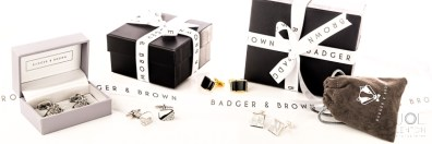 Cufflinks Photography - Product Photography for Badger & Brown - Advertising Banner-3