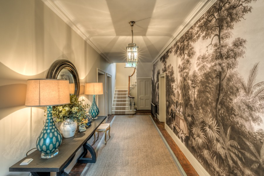Showing the feel of a space - interior design opulent hallway