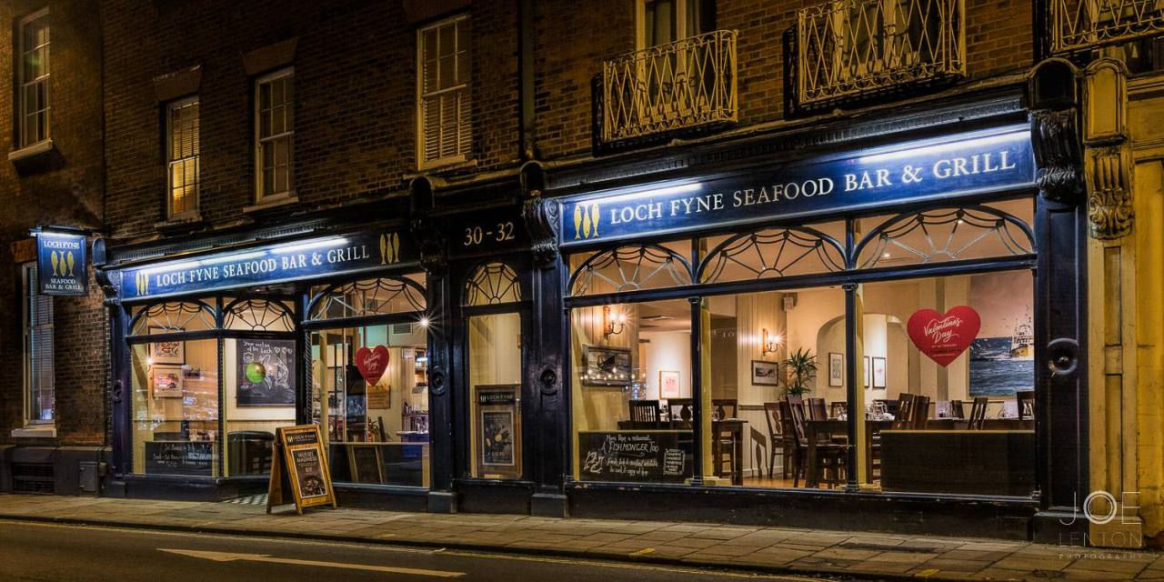 Twilight Photography - front of Loch Fyne restaurant in Norwich