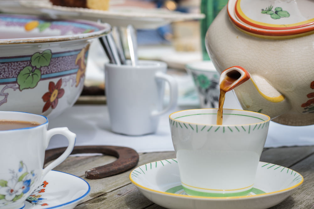 Drinks Photography - Tea Pouring from Teapot