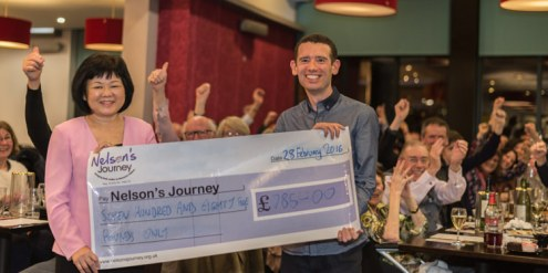 Events Photography & PR Photography - giant cheque for charity donation
