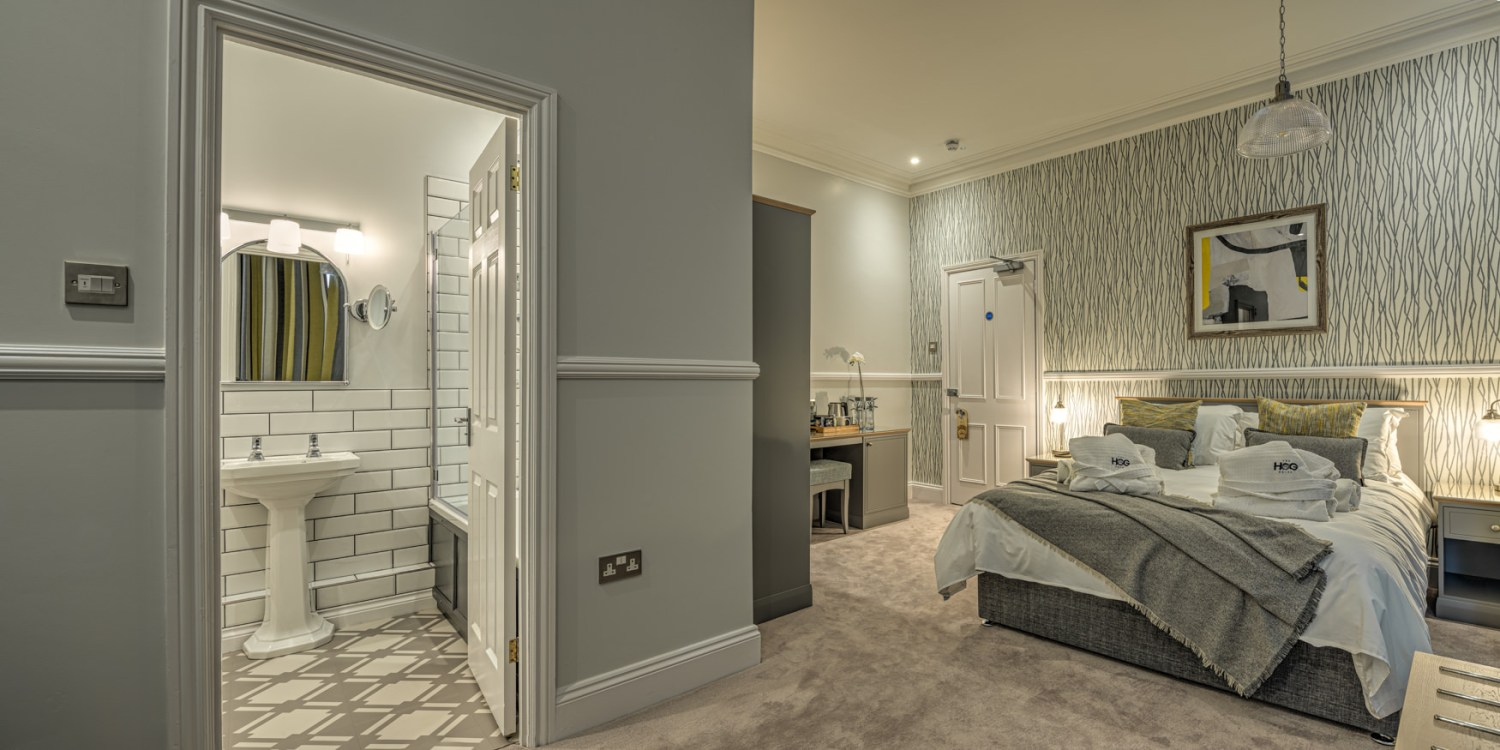 Luxury double room with ensuite at The Hog Hotel Pakefield