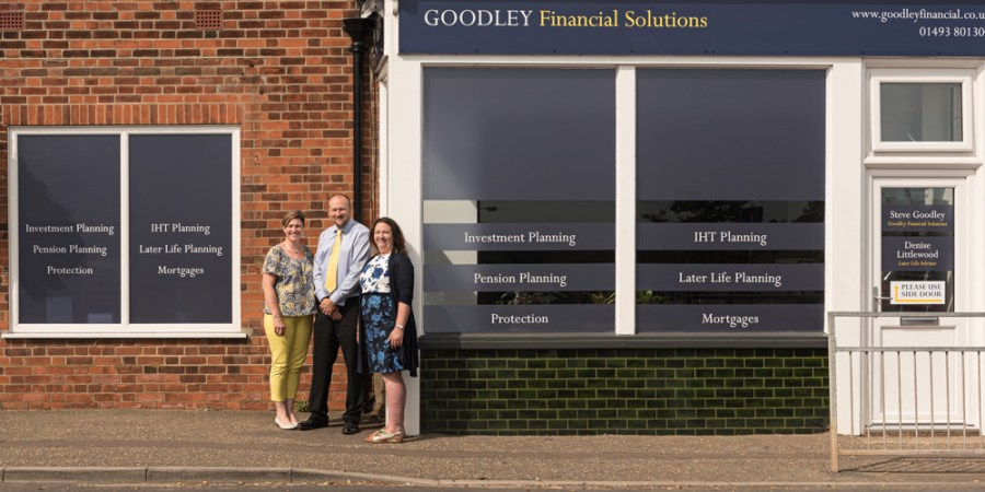 PR Photoshoot for Goodley Financial Solutions Limited - Exterior of Premises
