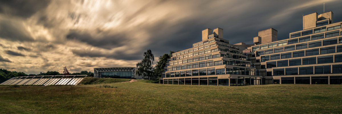 UEA Ziggurat long exposure architectural photography