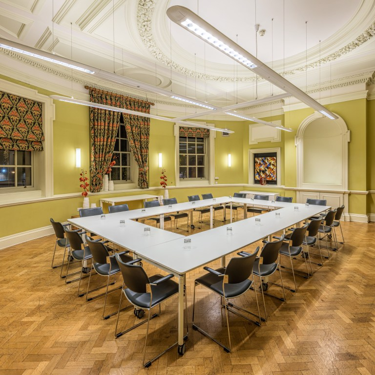 Commercial Architectural Photography of large meeting room at OPEN Norwich