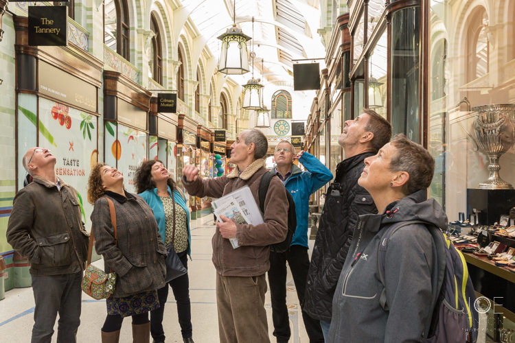 Tour of Norwich Architecture group in Royal Arcade