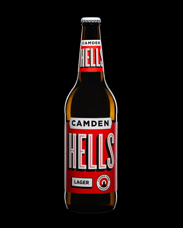 Bottle Photography Sample - Camden Hells on Black
