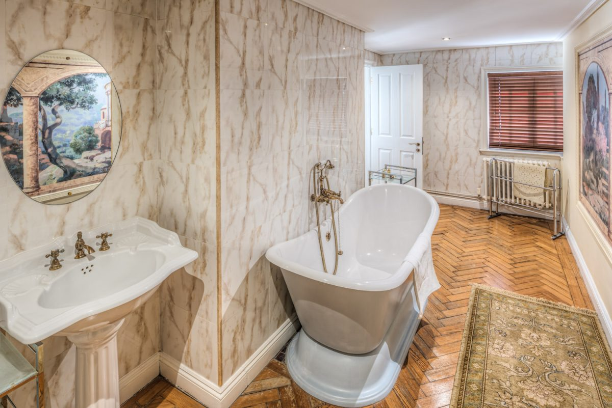 Luxury bathroom at St Giles House Hotel in Norwich