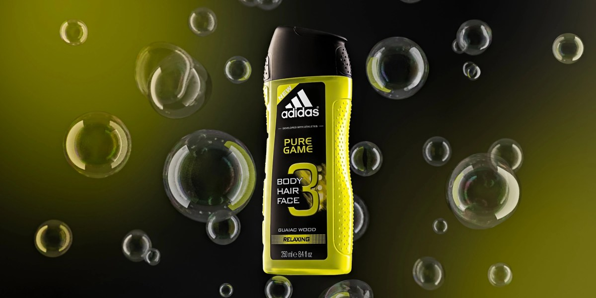 Adidas Shower Gel With CGI Bubbles