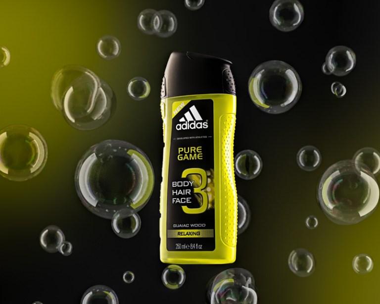 Adidas Shower Gel with CGI Bubbles