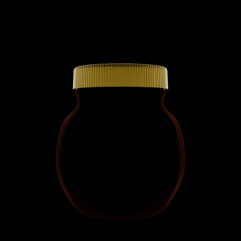 Simplified Marmite jar with just shape and lid