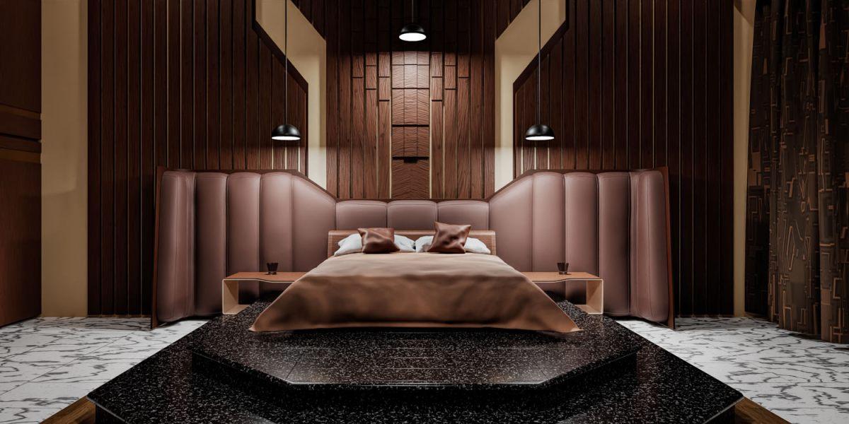 CGI bedroom 3d visualisation