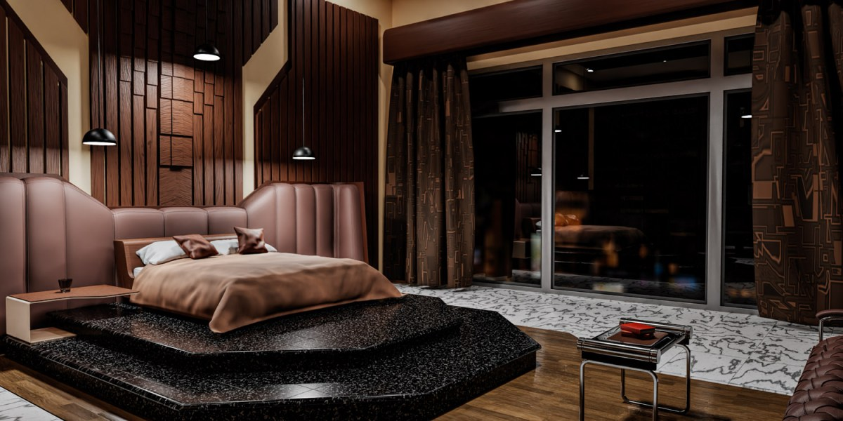CGI Interior Project - Bedroom view of bed and window