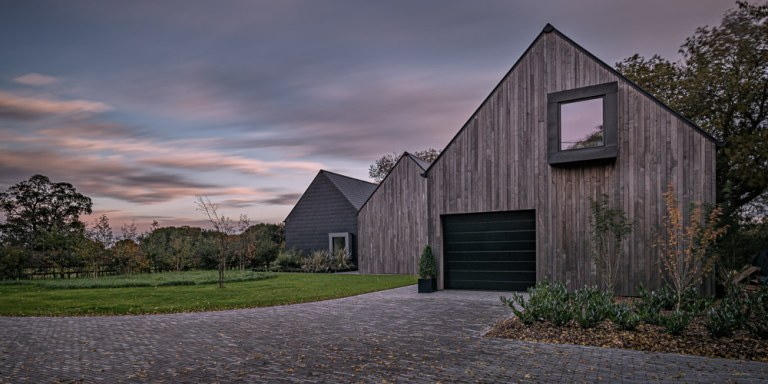 Contemporary Architectural Photography - long exposure of home at sunset