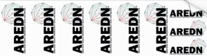 AREDN cuttable labels for Amateur Radio Emergency Data Network equipment