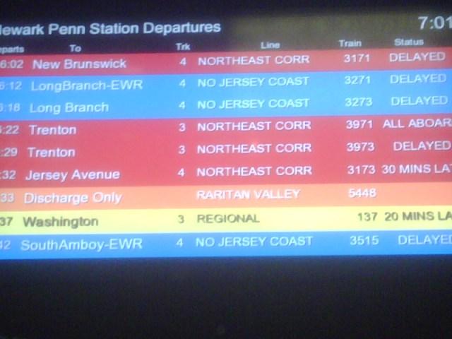 Newark Penn train status