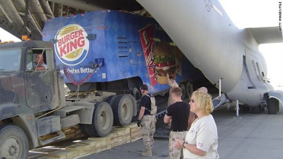 Burger King supply truck
