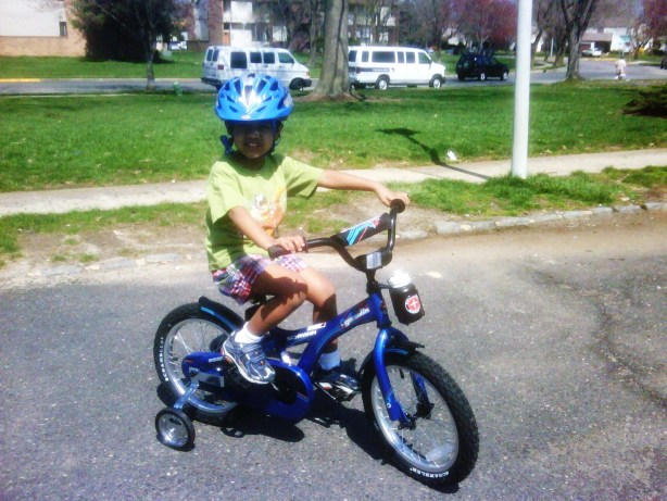 Josh's first bicycle