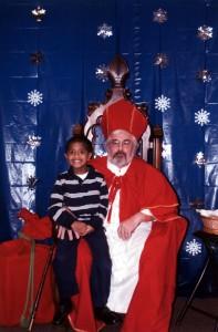 Josh with St. Nicholas - Dec 2011