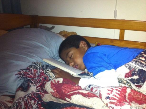 Joshua was very sleepy