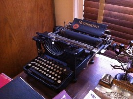 A very old-fashioned typewriter