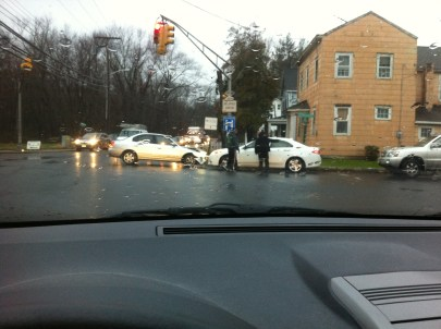 A car accident on the way to work this morning.