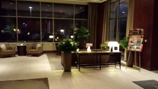 A fancy Westin lobby.