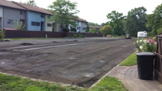 Not to make it too easy on Moving Day, but our parking lot was closed due to repaving