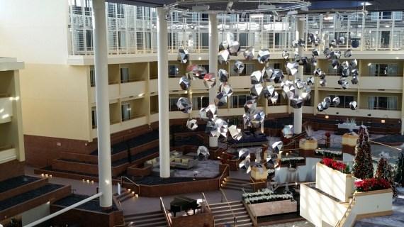 The lobby of the Hyatt Regency Princeton