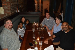 Wednesday night dinner at Merchants in the heart of Nashville
