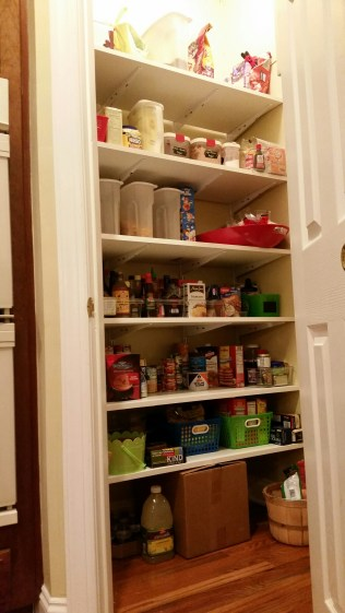 The pantry put back together, and restocked.