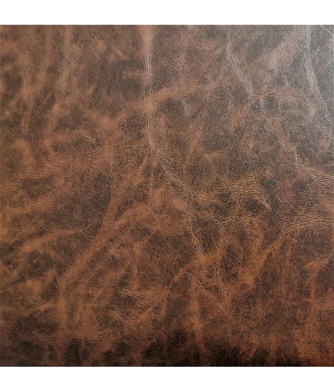 simili cuir effet vieilli marron ameublement coussin sac pochette joelle tissu tissu synthetique
