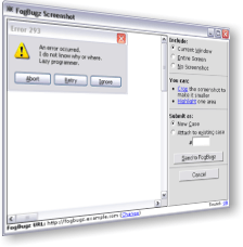 FogBugz 4.0 Screenshot Tool.