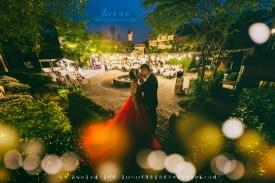 台中婚攝 智翔+蓁綺 宴客婚攝 心之芳庭 香檳玫瑰小廣場戶外晚宴