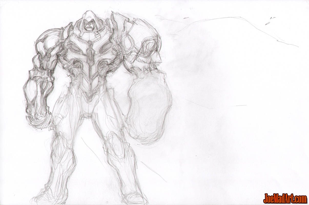Joemadart Darksiders Unsued War Skull Armor Early