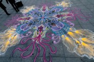 sand painting Washington Square Park 2012 - Squid