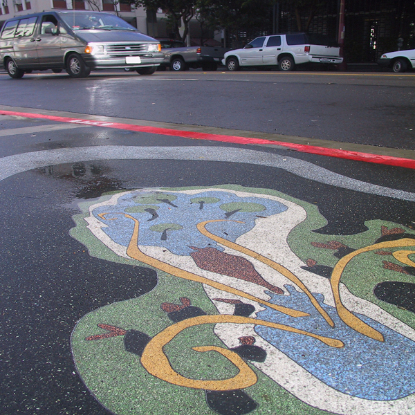 Terrazzo design in San Francisco Mission and 22nd