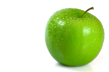 Smelling green apples