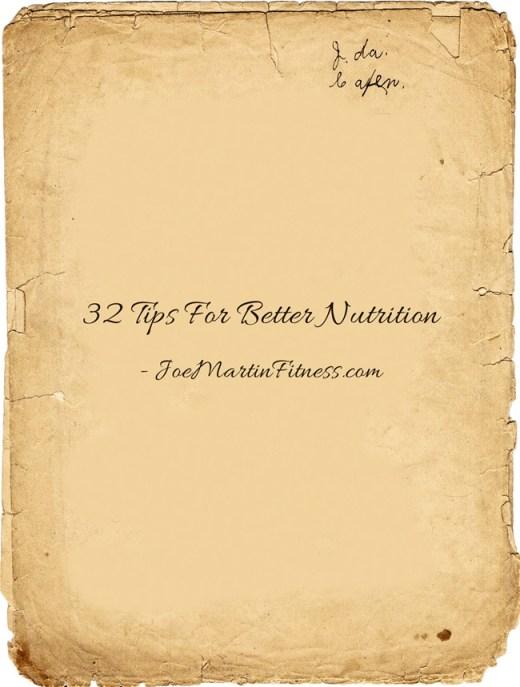 32-Tips-For-Better-Nutrition