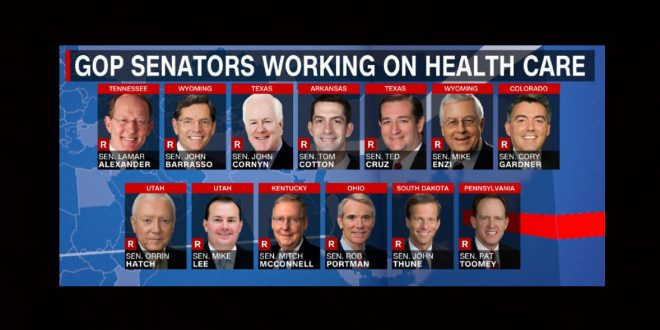 Image result for photos of senators working on Trumpcare