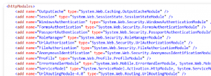 Module im IIS -- nicht optimiert