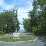 Statue auf Promenade in Tsarevo
