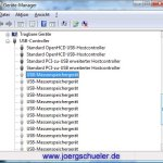 Gerätemanager Abschnitt USB-Controller