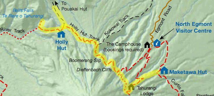 Egmont National Park Hiking From Maketawa To Pouakai Hut