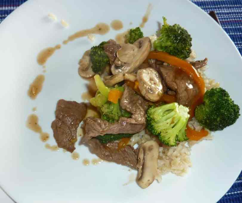 Beef and broccoli stir fry. Easy, tasty meal. | joeshealthymeals.com