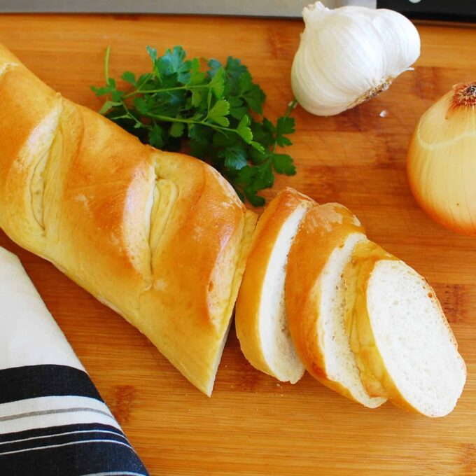 Easy French Baguette - this bread has great texture and is perfect with any meal.  Great recipe.   joeshealthymeals.com