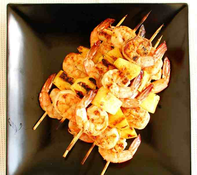 Sesame oil grilled shrimp