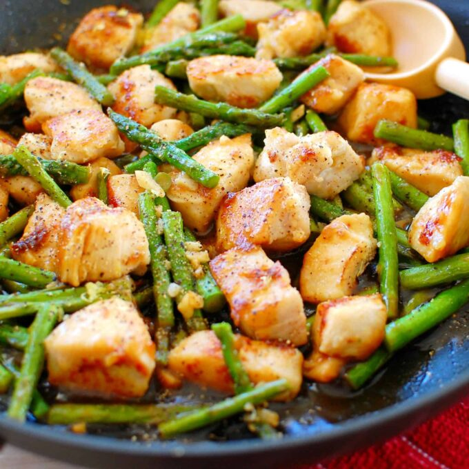 For that asian chicken asparagus very