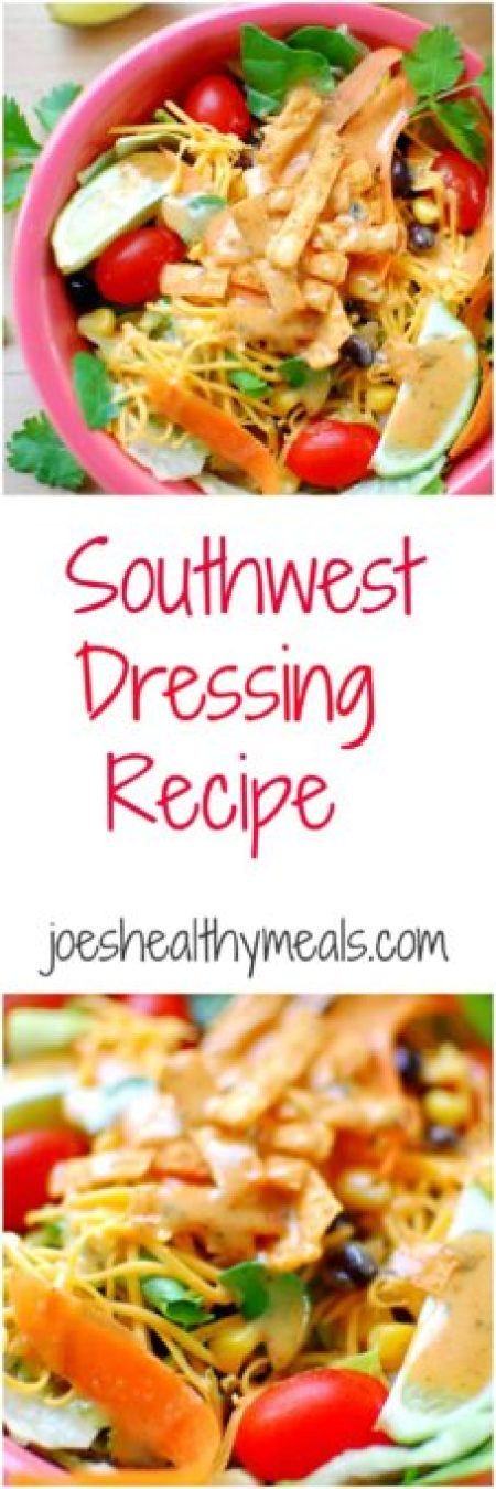 southwest dressing recipe. Southwest dressing recipe just like Newman's Own from McDonald's! This recipe tastes sooo good! | joeshealthymeals.com